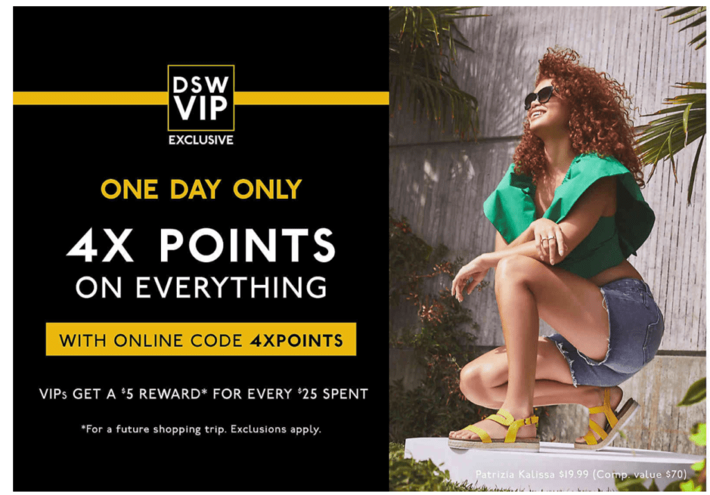 4x plus de points chez DSW