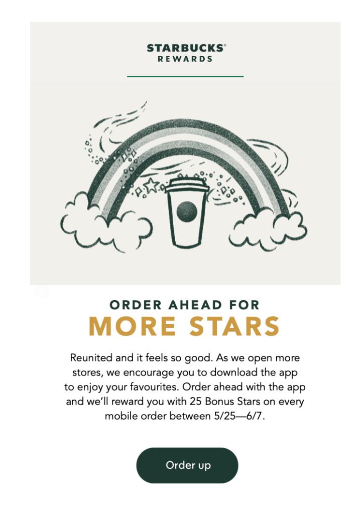 Starbucks Rewards offre plus de points pour les commandes à l'avance